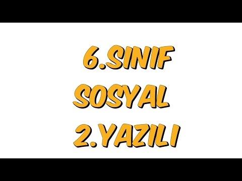 6.SINIF YAZILI SORULARI   SOSYAL BİLGİLER