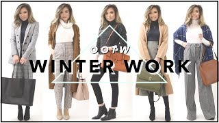 WINTER WORK OUTFITS Of The Week OOTW | Winter Work Outfit Ideas Lookbook | Miss Louie
