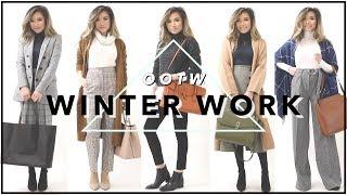 WINTER WORK OUTFITS Of The Week OOTW | Winter Work Outfit Ideas Lookbook | Miss Louie