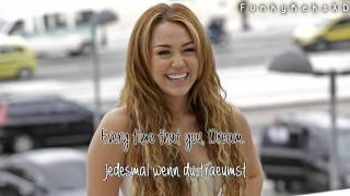 Miley Cyrus - Dream (Lyrics+Deutsche Übersetzung)