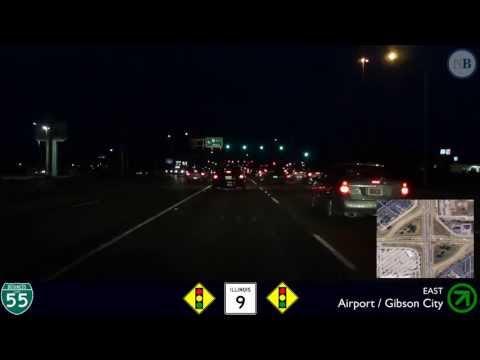 (10): Bloomington after Dusk (Business Loop I-55, Bloomington, Illinois)