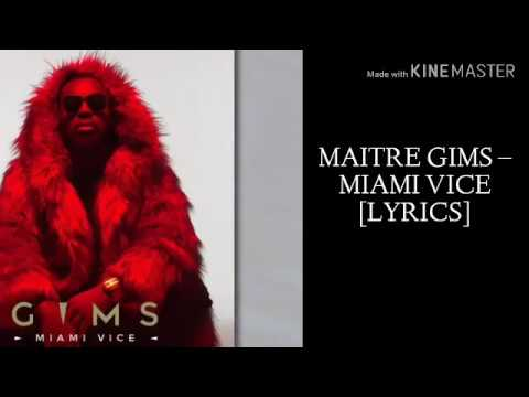 Maître Gims - Miami Vice (paroles/ lyrics)