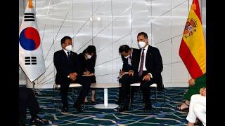 S.M. el Rey en el encuentro de cierre de la visita del Presidente de la República de Corea