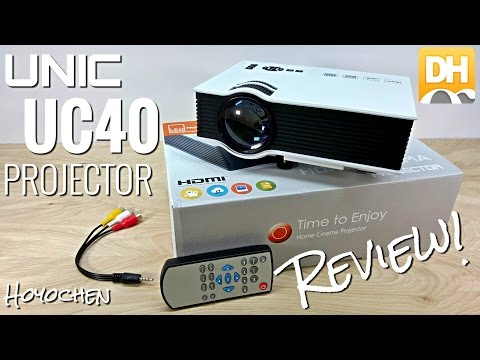 Unic UC40 Projector – $100 – [Unboxing & Review] – 800 Lumens – 130″ – HDMI – LED – DHgate.com