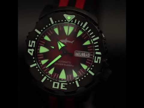Heimdallr Sharkey Full Lume PVD Ocean Monster Dive Watch