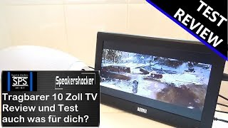 August DA100D Analog Digital Camping portable TV Mediaplayer Review Test
