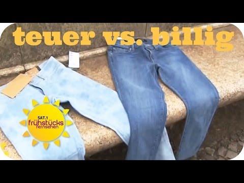 Markenjeans vs. Billigware | Sat.1 Frühstücksfernsehen |