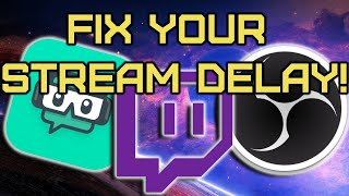 How To Fix TWITCH STREAM DELAY (Streamlabs OBS)