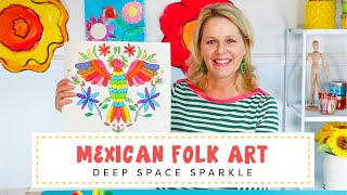 Mexican Folk Art | Symmetrical Floral Designs Using Markers
