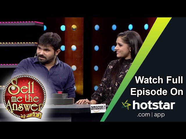Chanti & Rashmi at Sell Me The Answer – 18th September 2016 – Full Episode