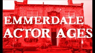 Emmerdale Cast Ages! Countdown Of The Actor's Ages From Youngest To Oldest! Age 3 - 82!