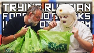 ANOMALY TRIES RUSSIAN FOOD AND SNACKS (PART 1)