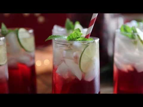 Video Drink Recipes - How to Make Cranberry Punch