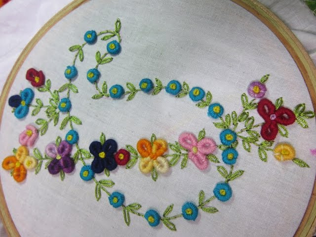 Video Hand Embroidery Designs Design For Dresses Stitch And