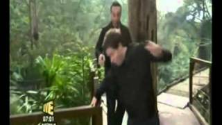 I'm A Celeb 2010 Dec nearly falls