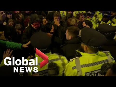 London protesters against UK's Boris Johnson clash with police