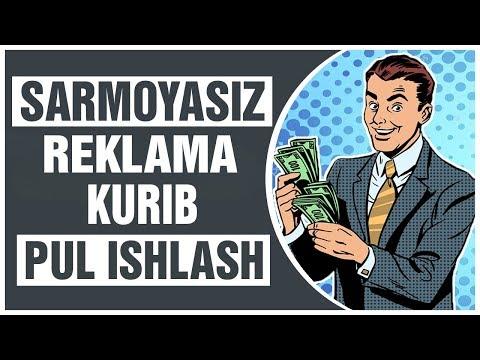 SARMOYASIZ PUL ISHLASH UCHUN SUPER PROEKT