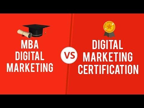 MBA vs Certification in Digital Marketing - YouTube