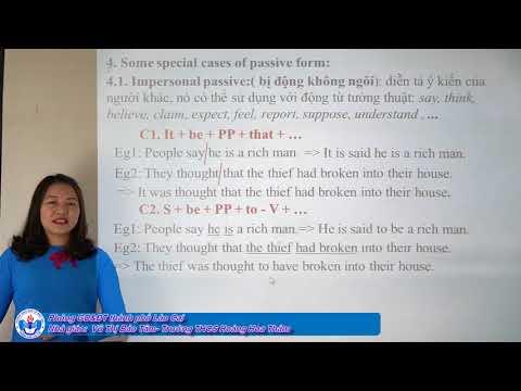 Tiếng anh 9: Chuyên đề - Passive form - Tp Lào Cai