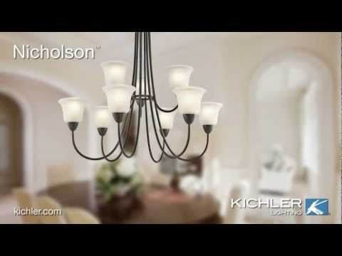 Video for Nicholson Brushed Nickel One-Light Bath Fixture