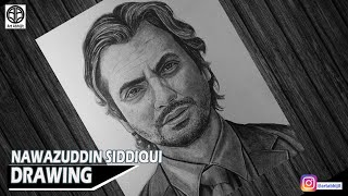 How to draw Nawazuddin Siddiqui || Draw Nawazuddin Siddiqui