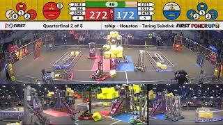 Quarterfinal 2 - 2018 FIRST Championship - Houston - Turing Subdivision