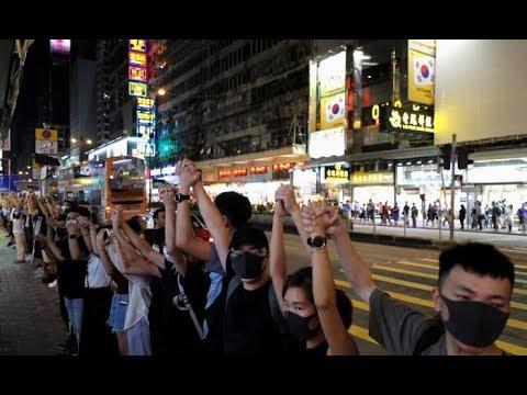 Rối ren bất ổn tại Hong Kong lại tiếp tục: Hàng ngàn người xuống đường phản đối dự luật an ninh
