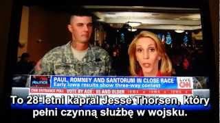 Żołnierz ocenzurowany w wywiadzie na żywo