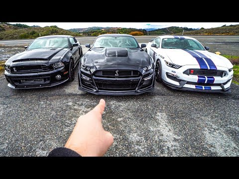 2020 SHELBY GT500 VS 2014 GT500 SUPER SNAKE VS GT350R | ULTIMATE REV BATTLE
