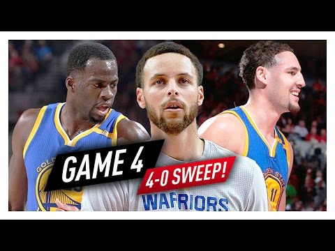 Stephen Curry, Klay Thompson & Draymond Green Game 4 Highlights vs Blazers 2017 Playoffs - SWEEP!