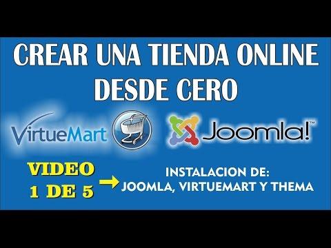 Tienda en linea con joomla y virtuemart vídeo 1 de 5