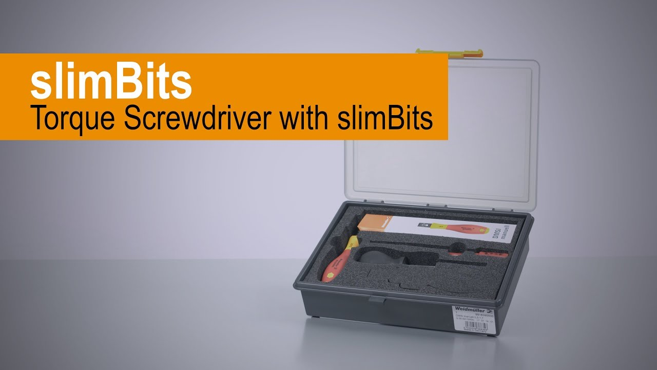 Handling video Torque Screwdriver with slim bits
