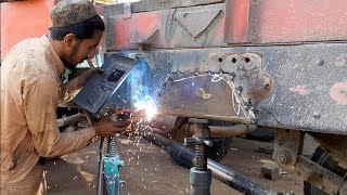 How to repair a broken Chassis of hino tipper Truck