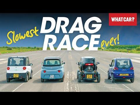 DRAG RACE: Citroen Ami vs Renault Twizy & more – electric quadricycle battle | What Car?
