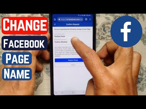 How To Change Facebook Page Name 2019