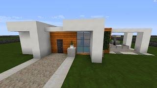 Minecraft Modernes Haus Mit Wintergarten Braunweiß Bauen Tutorial - Minecraft modernes haus bauen deutsch