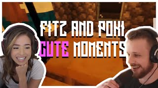 Cute Fitz And Pokimane Moments In Vanilla Minecraft