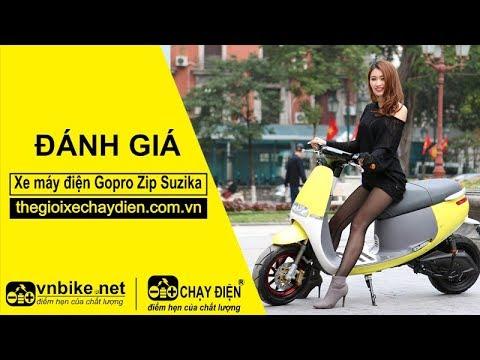 Đánh giá xe máy điện Gopro Zip Suzika