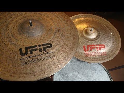 """Ufip 18"""" HiHats !!!!! + Rides Natural + Experience Modifications by Kamin Cymbals"""