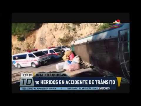 Accidente en la Ruta Interamericana deja 10 heridos