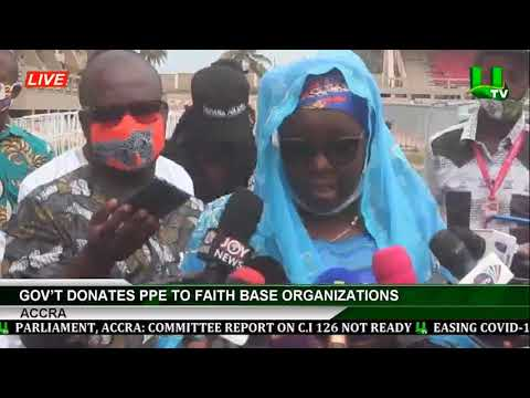 Gov't Donates PPE To Faith Base Organizations