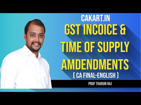 Paper-8: Indirect Tax Laws CA Tharun raj