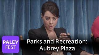 Parks And Recreation - Aubrey Plaza Stares Down Joe Biden