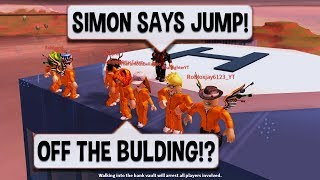 Roblox Jailbreak CRAZIEST SIMON SAYS EVER | $10 ROBUX CARD PRIZE | NEW SEWER ESCAPE UPDATE - Video Youtube