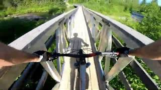 Bike and fly in the Canadian Rockies-- Long range FPV flight