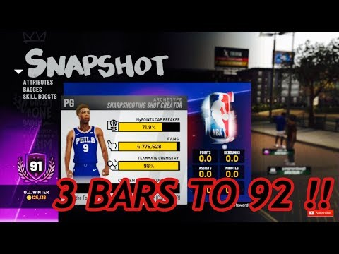 HOW MANY BARS TO 99 FOR EACH OVERALL FOR THE SHARPSHOOTING