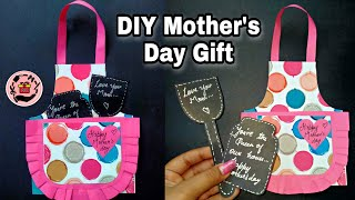 🎁DIY Mother's Day Gift Tutorial | Apron Shaped Card for Mom |
