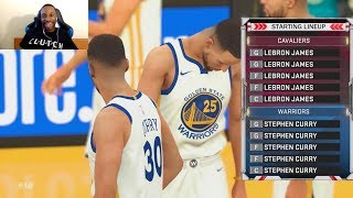 15 Stephen Curry's vs 15 LeBron James! YES FIFTEEN! WHO WILL WIN!? OT THRILLER! NBA2K Gameplay