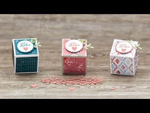 Mini Faltbox ohne Kleben • Fold Flat Mini Box / No Glue • Basteln mit Stampin' Up! Produkten