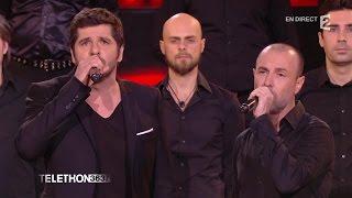 """Patrick Fiori chante """"Sinfunia Nustrale"""" et """"Corsica"""" pour le Téléthon 2015 - 05/12/2015"""